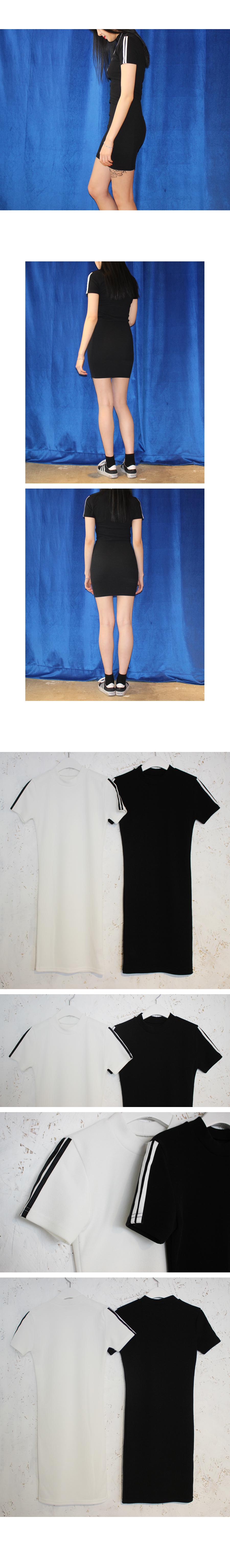 라인 슬림핏 원피스 (2colors) - 써리미, 17,600원, 원피스, 미니원피스